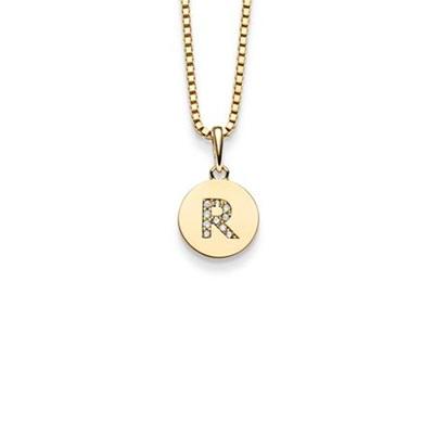Bokstav gulltags - R - leveres uten kjede