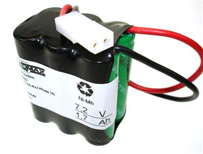 BP 6002 (7,2V-1,7Ah-Rx2-Plugg20)
