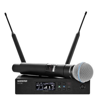 Shure QLXD24 Wireless HH System B58 K51(606-670 MHz)