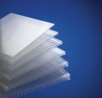 Polycarbonat plate 612 x 1140 - 4mm