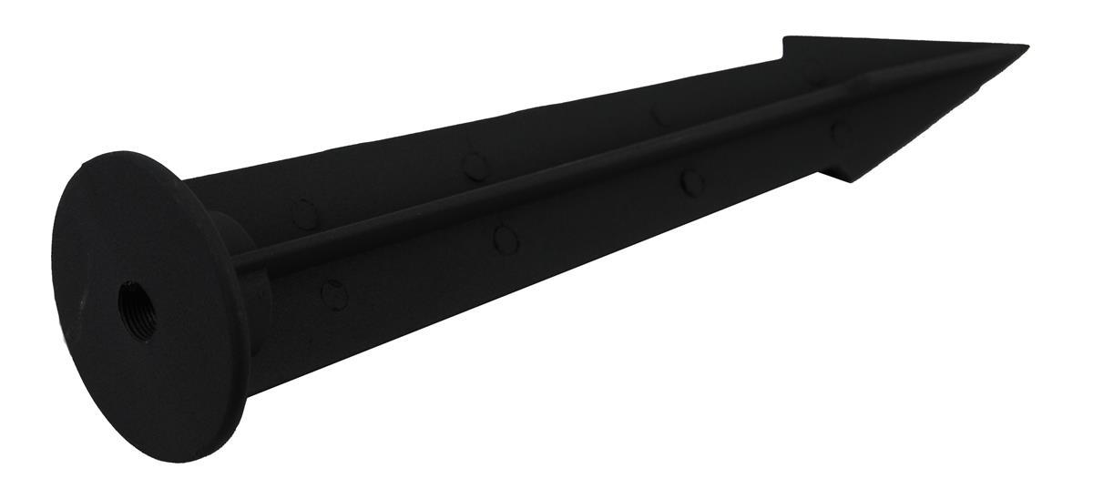 Spyd til Norgarden LED lys Grå antrasitt - 26,5cm
