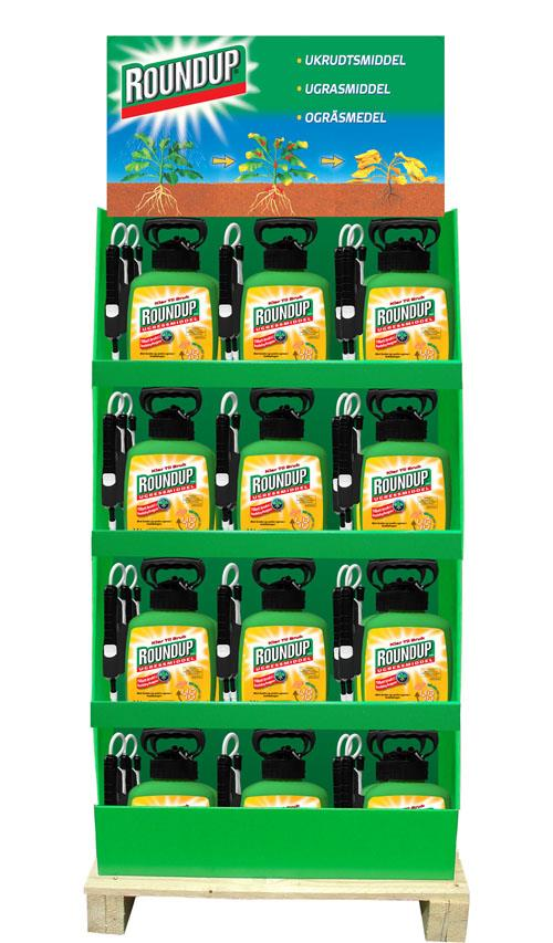 Roundup ugressmiddel 2,5 liter spray display