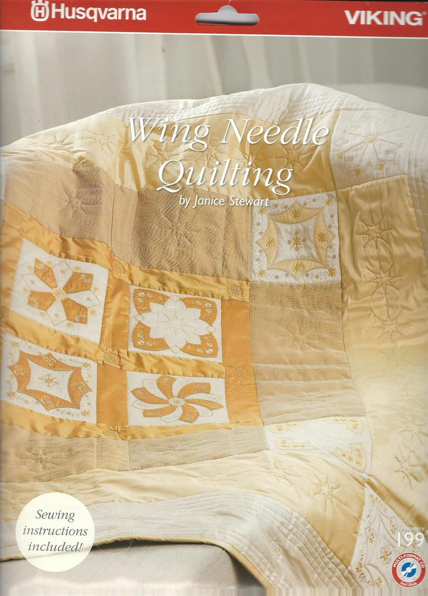 Husqvarna Broderkort NR 199. Wing Needle Quilting (CD)