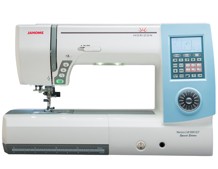 Ny Janome 8900QCP Spesial Edition. Sy og quilt, 280 mm syrom, overtransportør.