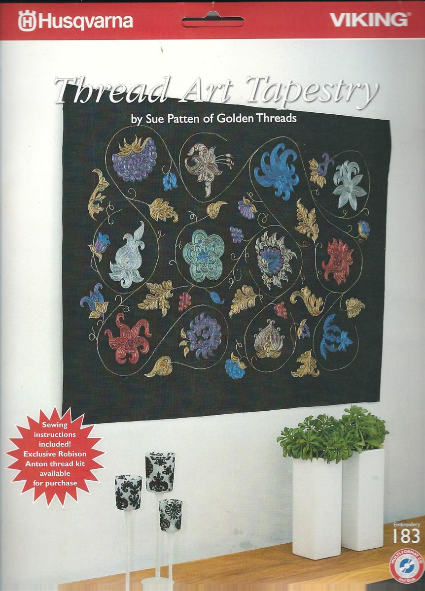 Husqvarna Broderkort NR 183. Thread Art Tapestry. (CD)
