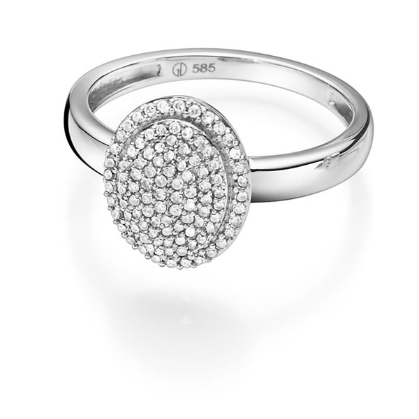 GD 100Diamonds MARILYN hv.gull ring  m/diamant 0,30ct W/SI