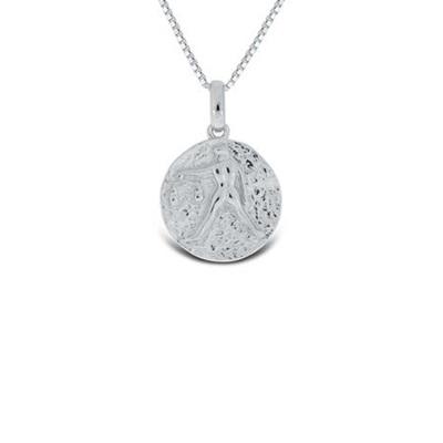 Vekten Lykketegn i sølv 23.september-22.oktober 45cm
