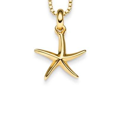 FantaSea Sjøstjerne Forgylt anheng i sølv 45cm kjede