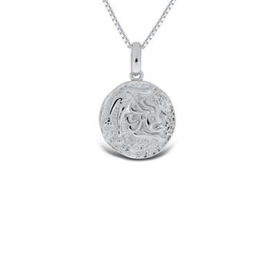 Løven Lykketegn i sølv 24.juli-23.august 45cm kjede