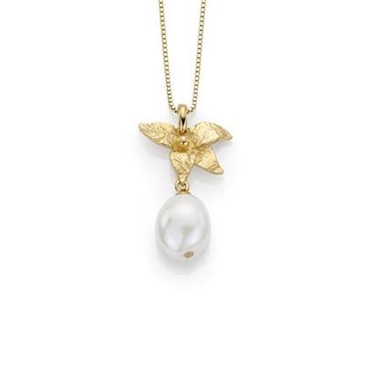 forg.anheng i sølv med fv.perler