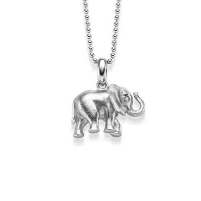 Lykkeelefanten Anheng i sølv 80cm kjede