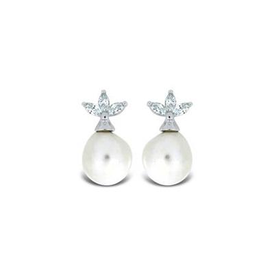 Bella Ørepynt i sølv med barokk perler