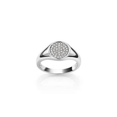 Mina Ring i sølv med zirkonia