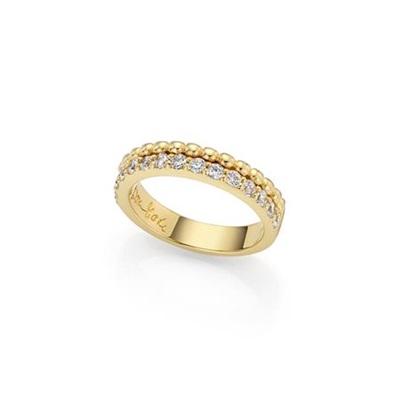 Forgylt ring i sølv med zirkonia