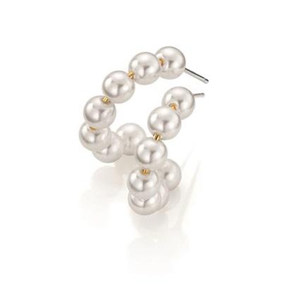 MustHave øreringer i messing med perler