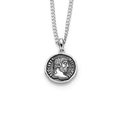 Mynt anheng i sølv med 50cm kjede