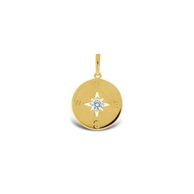 Kompass anheng i gull - leveres uten kjede