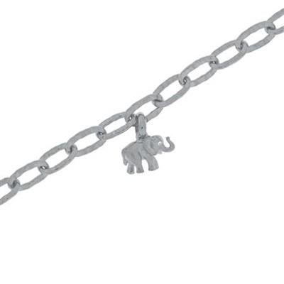 Lykkeelefanten Armbånd i sølv 17,5+4cm
