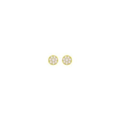 gult gull ørepynt med zirkonia