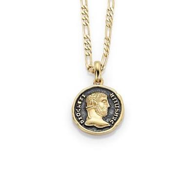 Mynt Forgylt anheng i sølv med 50cm kjede