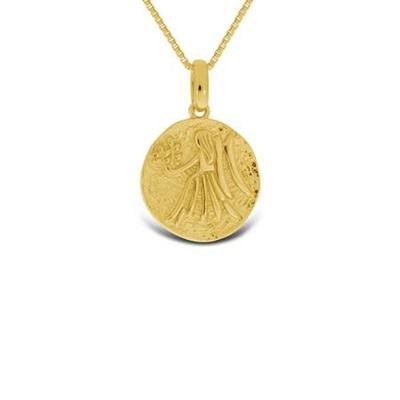 Forgylt Jomfruen Lykketegn i sølv 24.aug-22.sep 45cm