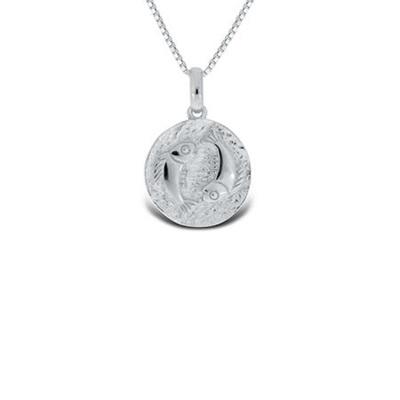 Fiskene Lykketegn i sølv 20.februar-20.mars 45cm