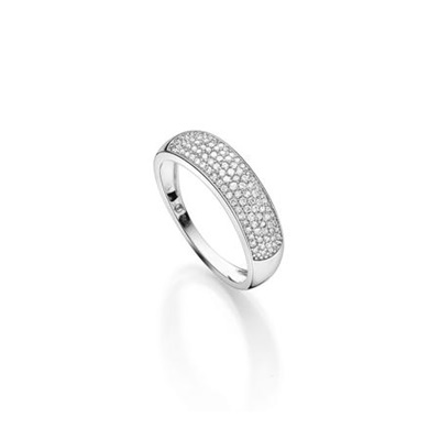 GD 100Diamonds BARDOT hv.gull ring m/diamant 0,35ct W/SI