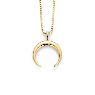 Moon anheng i gull med 45cm kjede