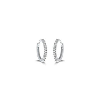 Øreringer i sølv med zirkonia