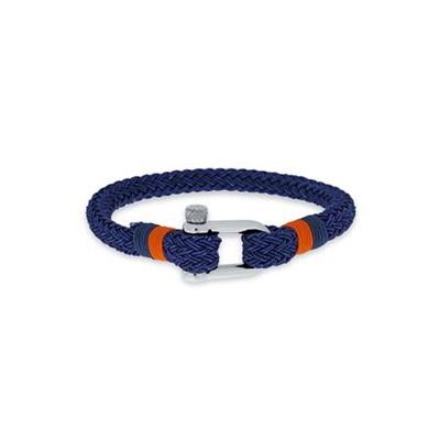 armbånd blå/oransje 20,5 cm