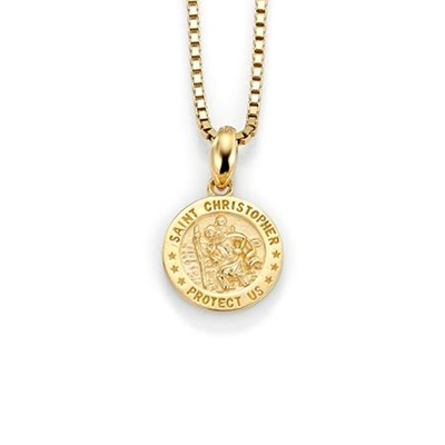 Mynt anheng i gull med 45cm kjede