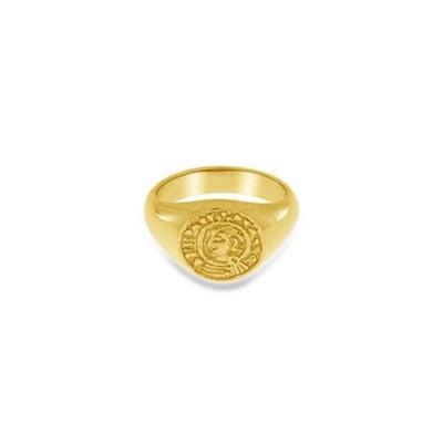Lykkemynt Forgylt ring i sølv
