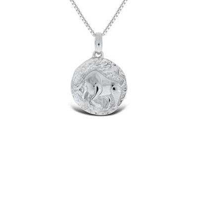 Tyren Lykketegn i sølv 21.april-20.mai 45cm