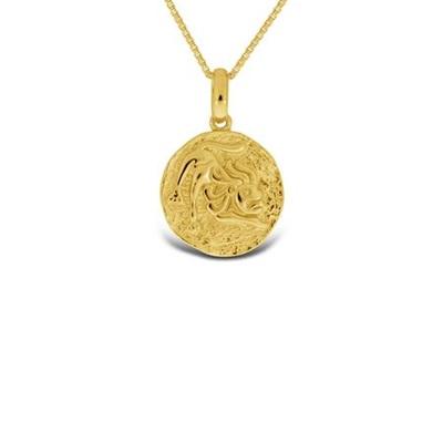 Forgylt Løven Lykketegn i sølv 24.juli-23.aug 45cm