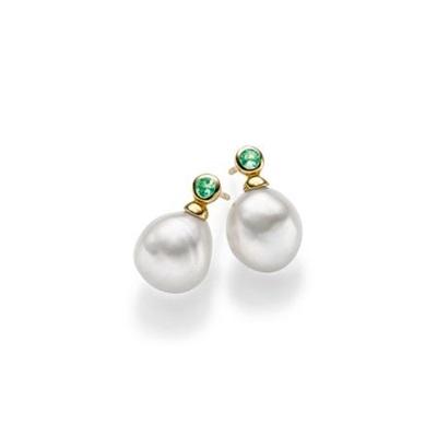 Mia Forgylt ørepynt i sølv med barokk perler