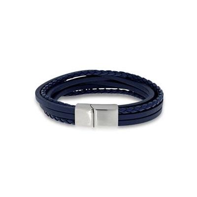 Skinnarmbånd med stållås 21,5cm