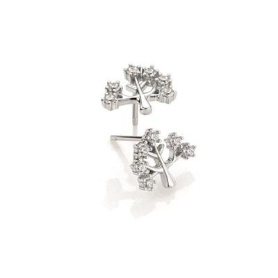 Tree of life Ørepynt i sølv med zirkonia