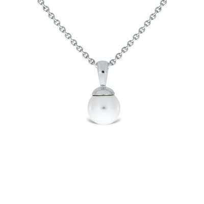 sølv anheng med 8mm perle