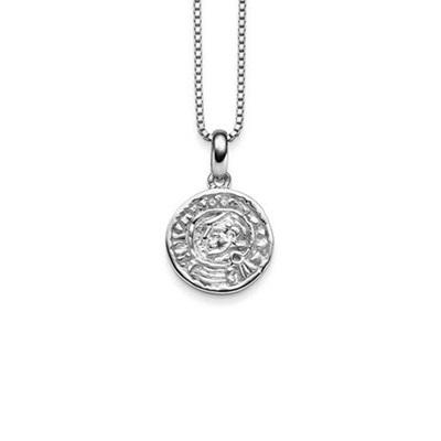 Lykkemynt Anheng i sølv 42cm kjede