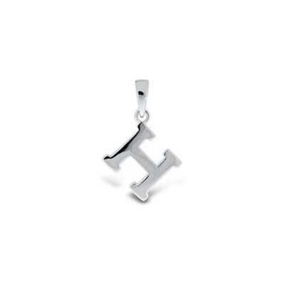 Anheng i sølv - H - leveres uten kjede