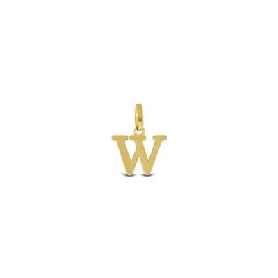 Gullbokstav - W - leveres uten kjede