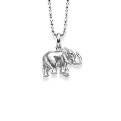 Lykkeelefanten Anheng i sølv 45 cm kjede