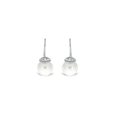 Ørepynt i sølv med zirkonia og perler