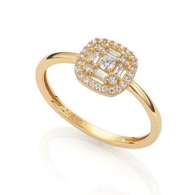 GD 1370 Maja Ring i gull med zirkonia