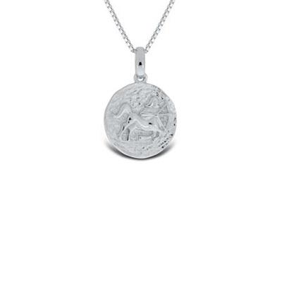 Skytten Lykketegn i sølv 23.november-21.des 45cm