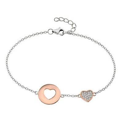 GD  sølv armbånd roséforgylt 16,5 +2 cm