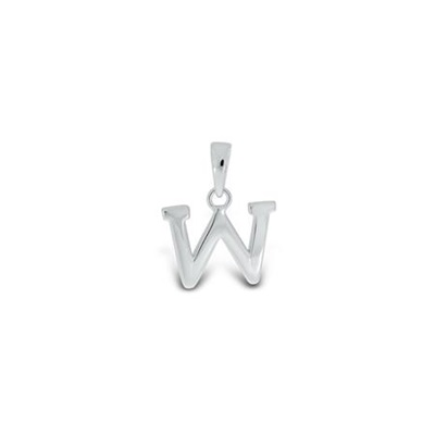 Anheng i sølv - W - leveres uten kjede