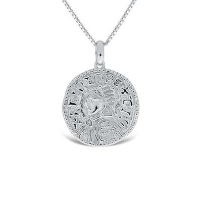 Lykkemynt Anheng i sølv 60cm kjede