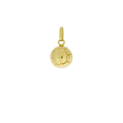 gult gull fotball anheng - leveres uten kjede