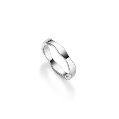 FantaSea Bølge Ring i sølv